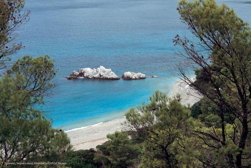 Sporadi, isola di Skopelos, Milia Beach ©GNTO/Y.Skoulas