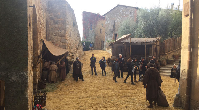 Dustin Hoffman in Val d'Orcia per la serie tv sui Medici